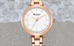Curren Women's Rose Gold Waterproof Wrist Watch