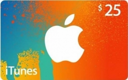 CHEAPEST Itunes Gift Card USD25 for MVR385.50