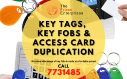 Key Tags and Access Card Duplication