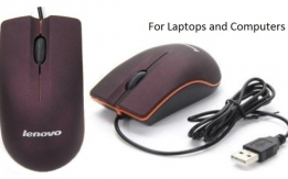 Lenovo USB Mini Mouse for Laptops and Computers