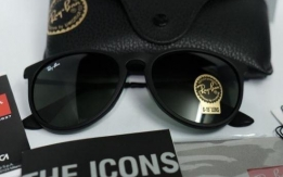 New Women's Genuine RayBan Erica Black Sugnlasses