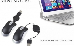 Retractable USB Mini Mouse for Laptops