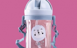 Water bottles 400ml with straw for kids